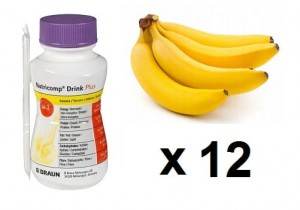 NUTRICOMP Drink Plus 12 szt. x 200 ml - banan/protein
